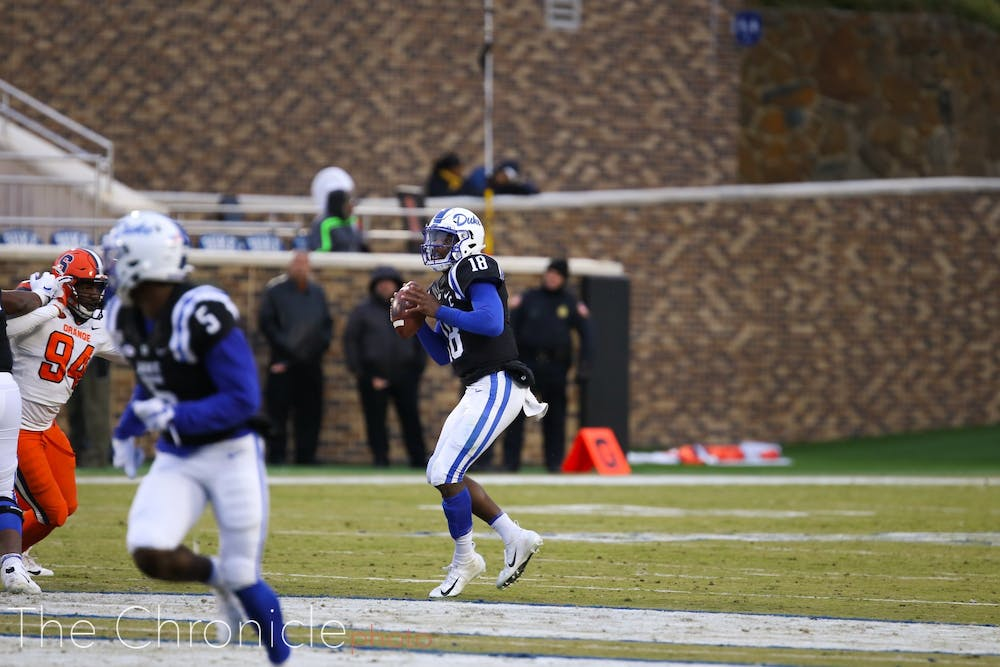 Quentin Harris completed just 19-of-36 passes for 157 yards and two interceptions in the stunning defeat.