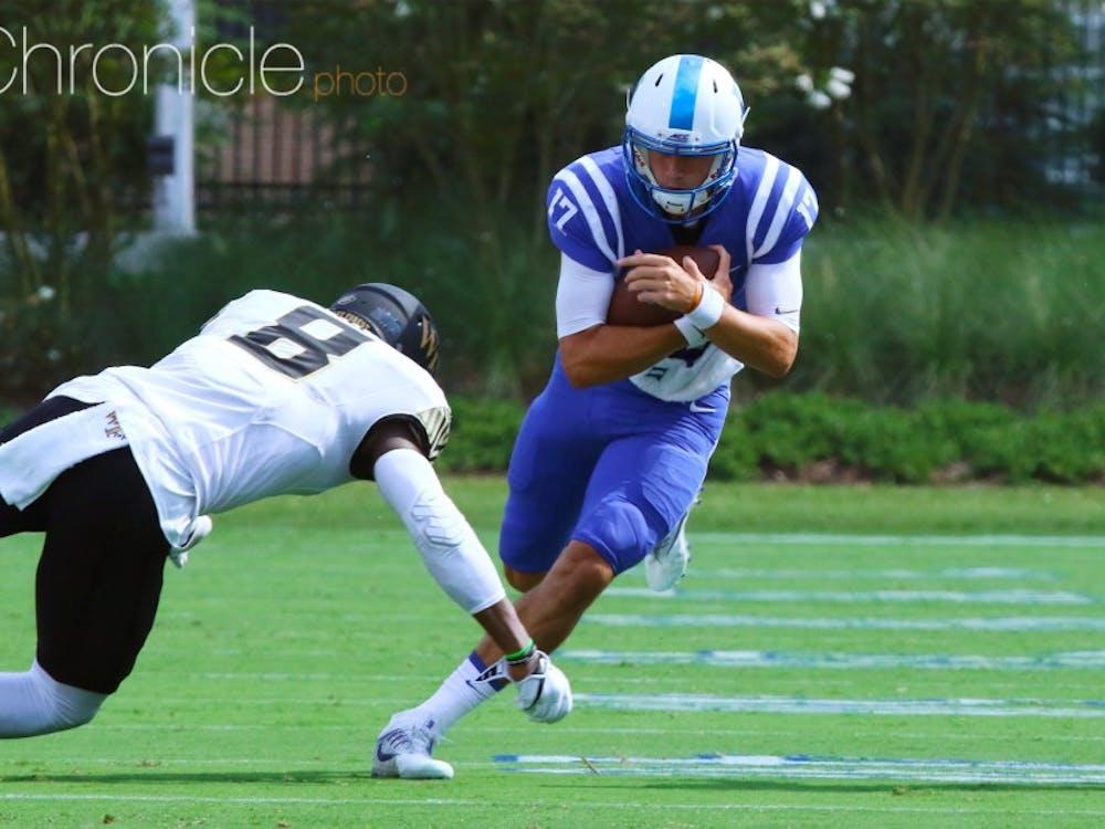 Daniel Jones is a big reason why Duke's rushing offense is so efficient.