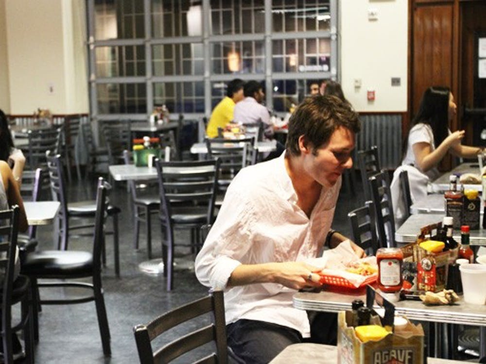 Pitchfork Provisions, the 24-hour eatery located in McClendon Tower, serves many students each weekend after midnight.