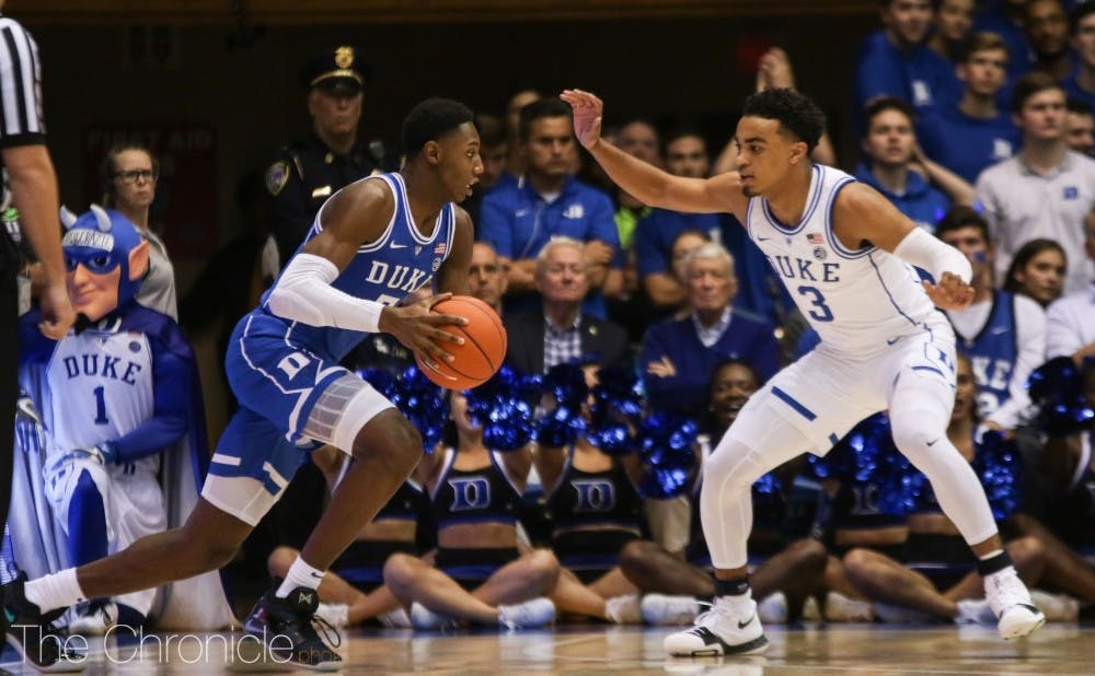 <p>Tre Jones can make or break Duke's team this season.</p>