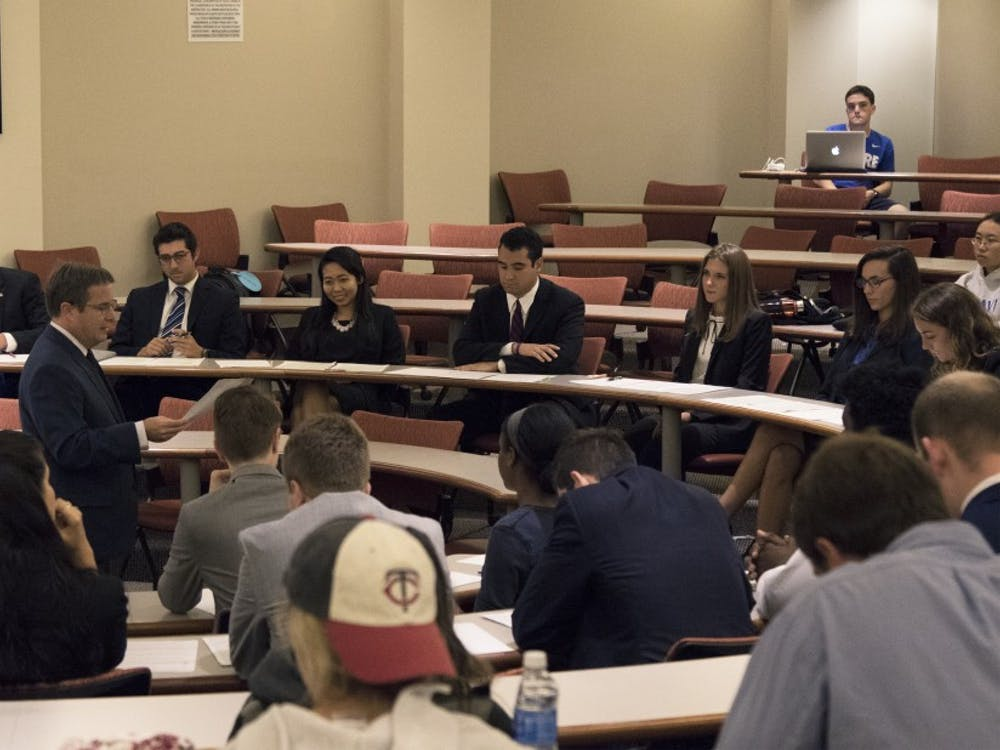 The mock debate focused on topics such as military, no-fly zones, Syria, refugees, Islamic terrorism and North Korea.