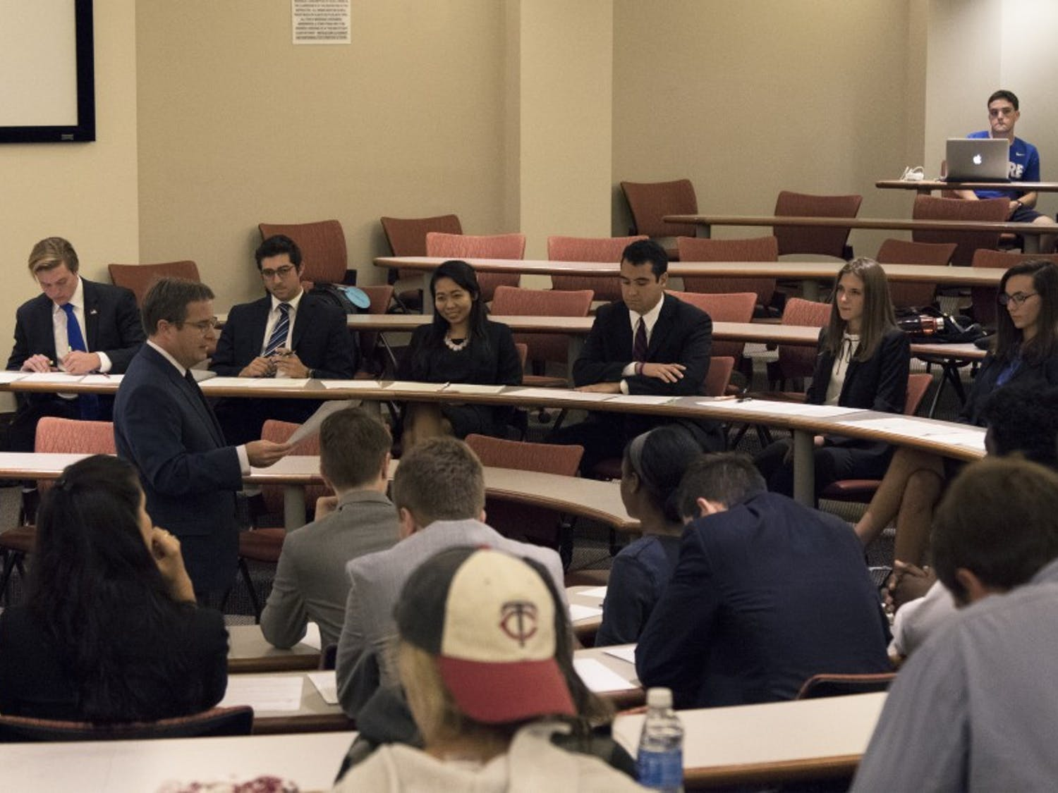 The mock debate focused on topics such asmilitary, no-fly zones, Syria, refugees, Islamic terrorism and North Korea.