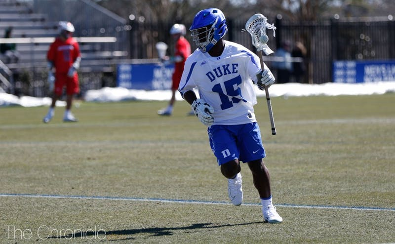 Nakeie Montgomery scored two goals in under a minute Sunday to clinch Duke's Final Four berth.