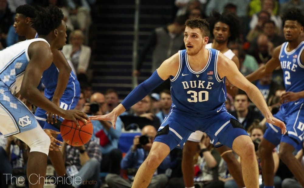 <p>Antonio Vrankovic provided a much needed spark off the bench against North Carolina.</p>