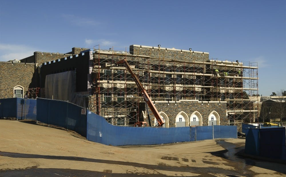 <p>The addition to Cameron Indoor Stadium is one of many athletic facility upgrades expected to be finished in the next few months.&nbsp;</p>