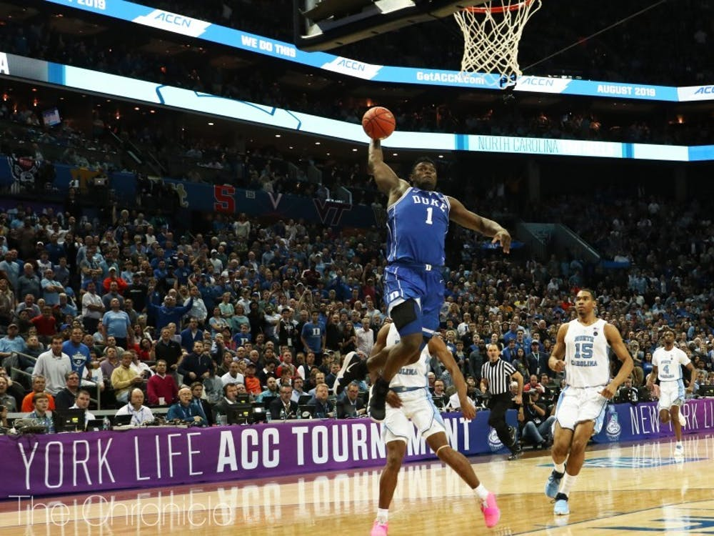 Zion Williamson electrified crowds with his dunks all season.