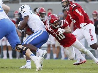 After a dominating performance last weekend, Duke struggled to run the football Saturday against N.C. State.