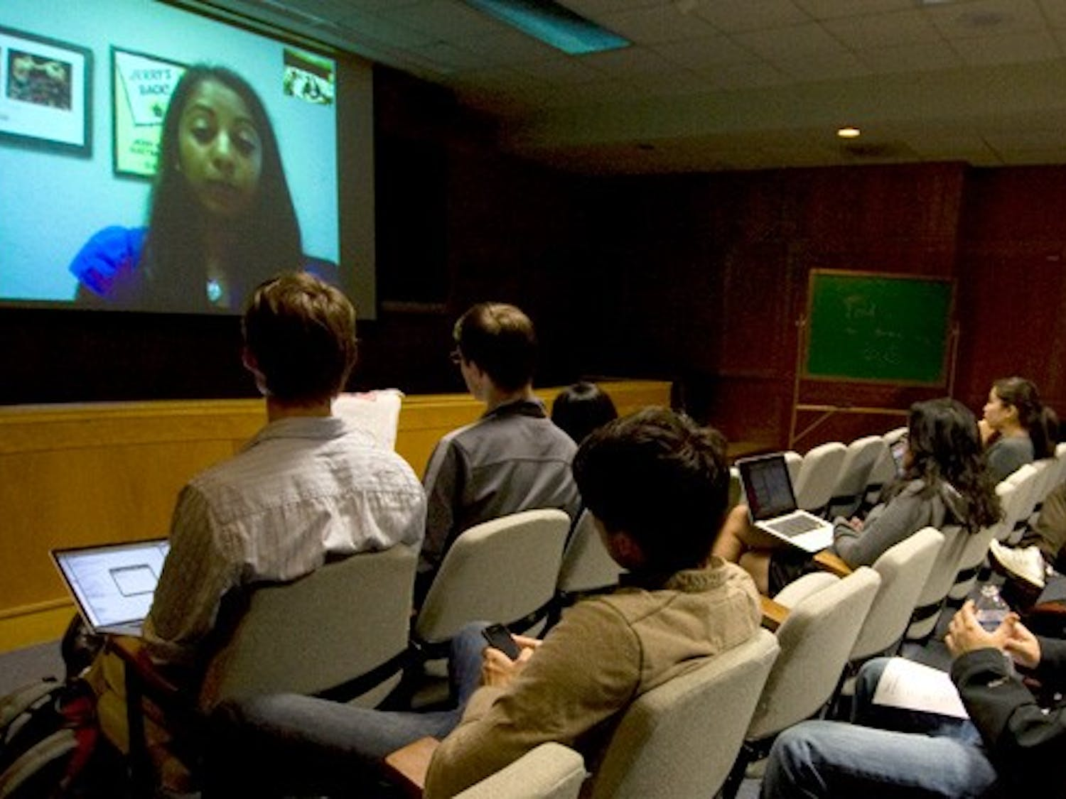 Vijayanshankar delivered a lecture Thursday in Teer 203 via skype on business start-up,  stressing the importance of execution over the original idea.