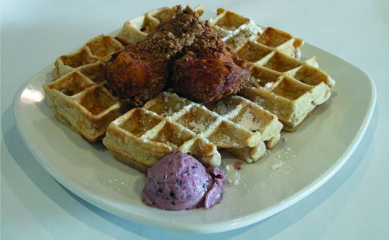 """Dame's Chicken and Waffles owner Randy Wadsworth noted that explaining the """"express"""" concept to some customers has been a challenge."""