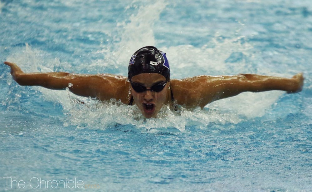 The Blue Devil men and women lost to Virginia in Friday's dual meet.