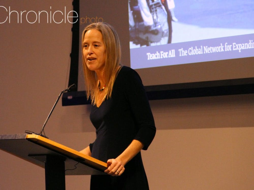 Wendy Kopp leads Teach for America, which recruits college graduates from top universities to serve as teachers in public schools for two years.