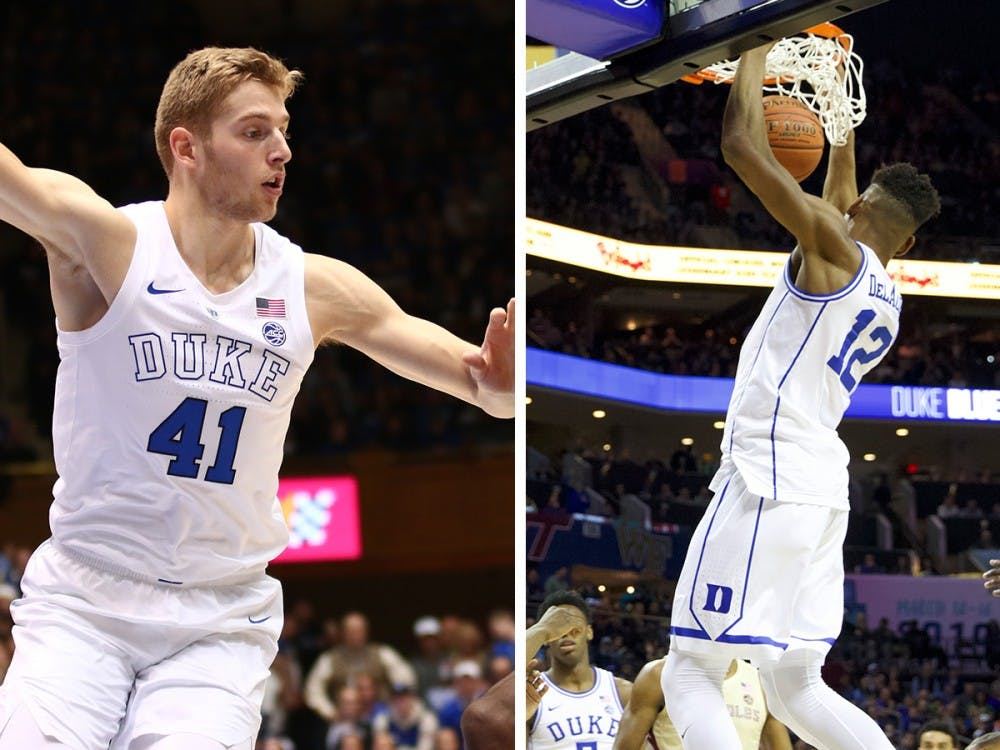<p>Best friends Javin DeLaurier and Jack White will be relied on as leaders for Duke's younger talent</p>