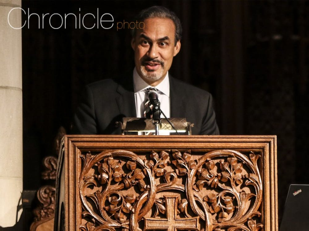 Phil Freelon, architect of the Smithsonian National Museum of African American History and Culture, gave the keynote address at the University's Martin Luther King Jr. Day ceremony in 2017.
