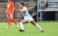 Senior Kayla McCoy notched Duke's lone goal of the afternoon in the final minute of play against Virginia.