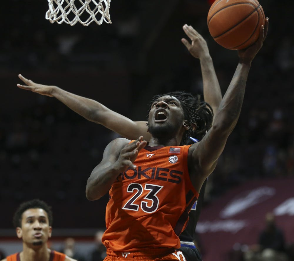 <p>Redshirt sophomore guard Tyrece Radford paced the Hokies offensively.</p>