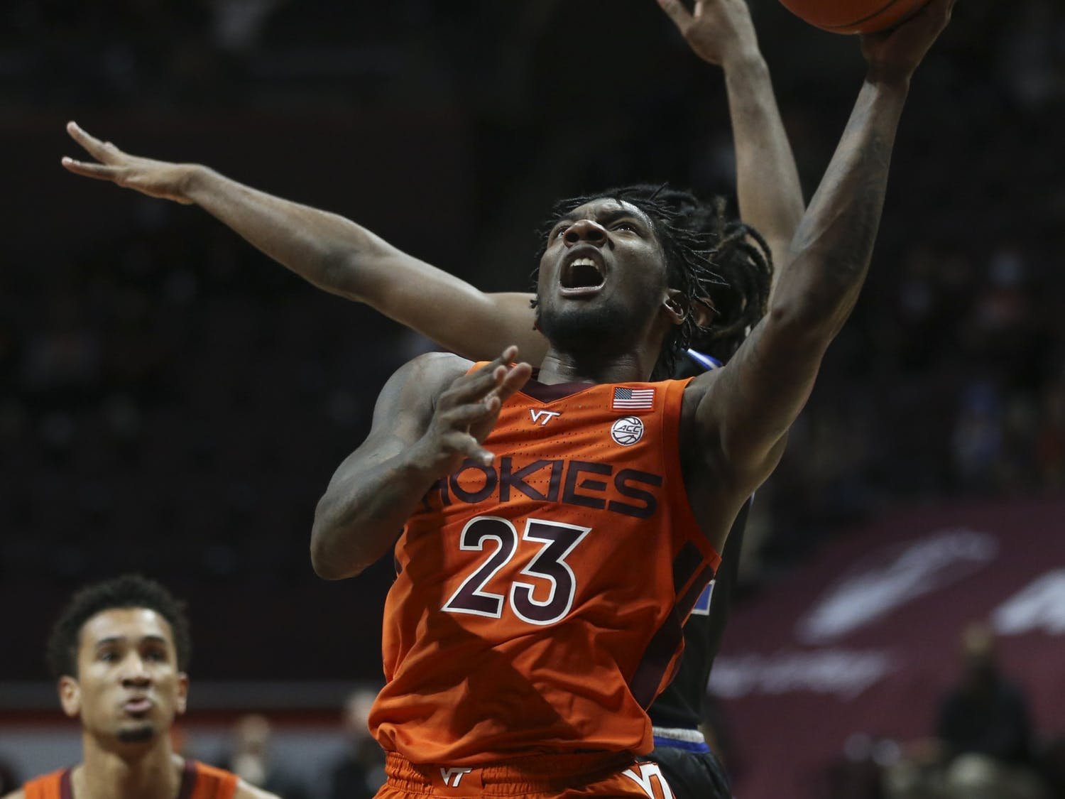Redshirt sophomore guard Tyrece Radford paced the Hokies offensively.