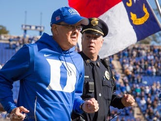 Head coach David Cutcliffe has some tough decisions to make before Duke takes the field at Notre Dame Sept. 12.