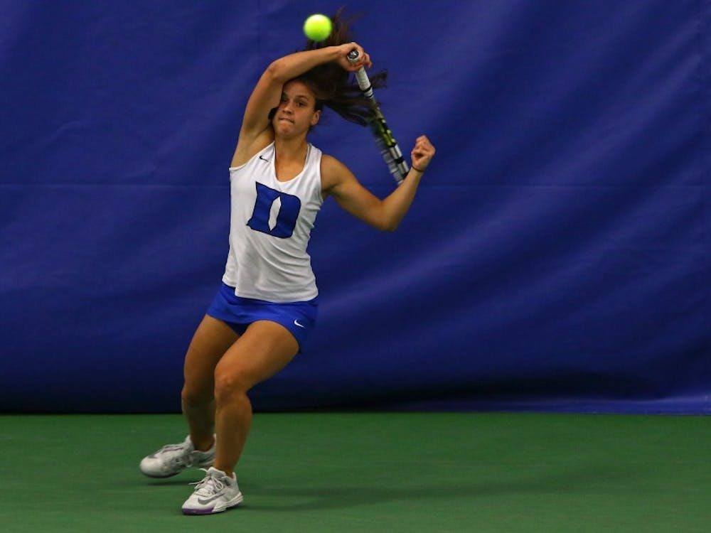 Playing without their top two singles players, the Blue Devils rose to the challenge to take down No. 24 Syracuse Friday afternoon.