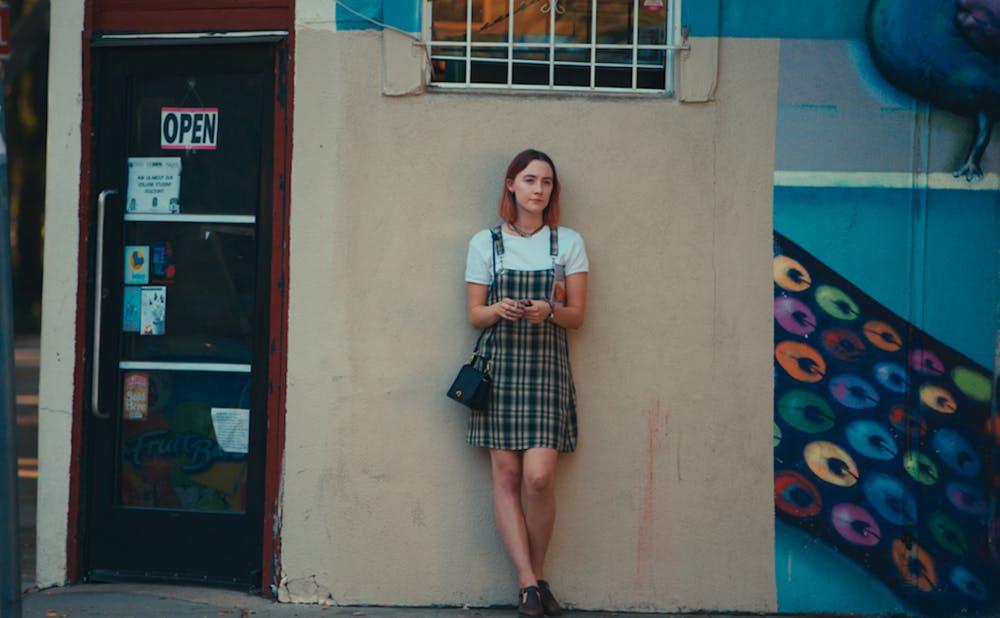 """Lady Bird,"" Greta Gerwig's directorial debut, stars Saoirse Ronan as the titular character."