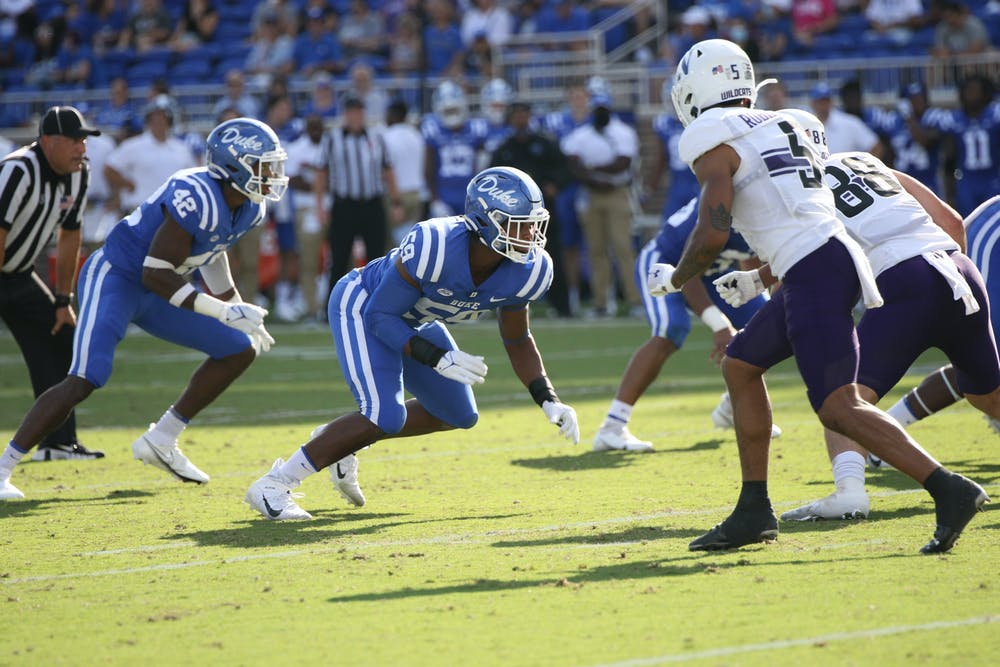 The Blue Devils forced five turnovers—four of which came in the first half.