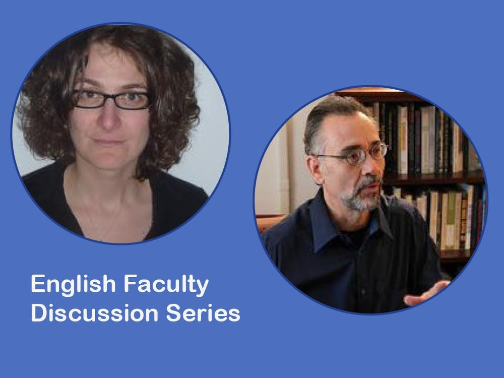 The discussion series will feature talks from English faculty members, including Professors Corina Stan and Tom Ferraro.