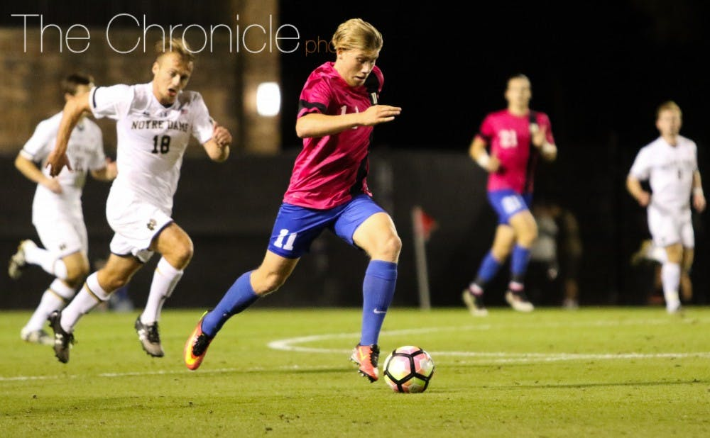 <p>Max Moser is one of the team's driving forces, and he will need to show up in order for Duke to defeat Clemson.</p>