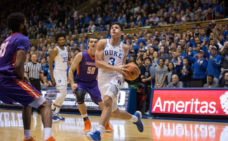 Grayson Allen made four 3-pointers to help Duke to a lights-out night from downtown.