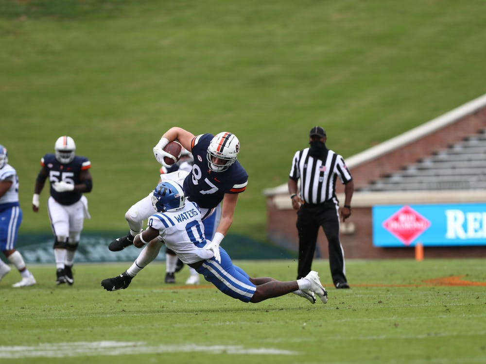 Despite Virginia quarterback Brennan Armstrong making his first start, Duke struggled to prevent the Cavaliers from making plays downfield.