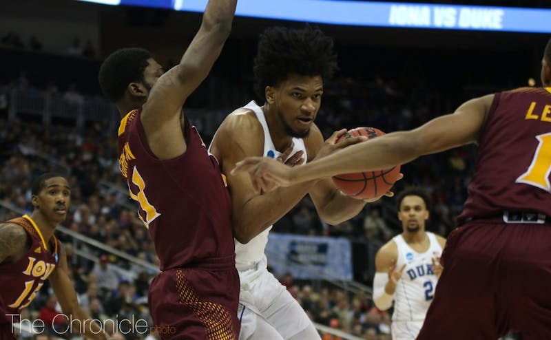 Duke will look to exploit its size advantage against Rhode Island.