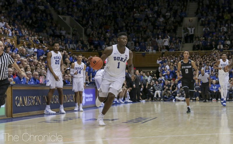 Zion Williamson helped Duke take care of Stetson on Saturday.