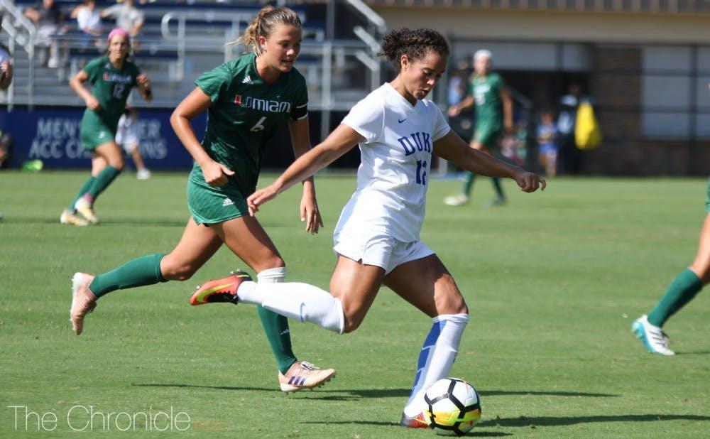 Duke women's soccer earns rain-delayed draw in top-25 tussle at N C