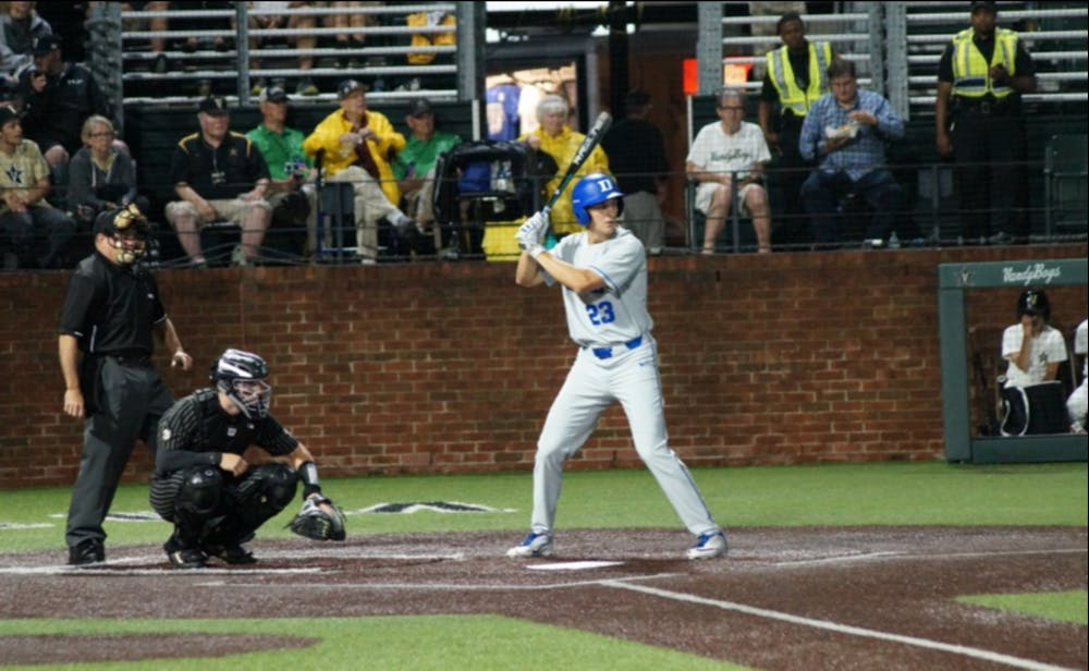 <p>Kyle Gallgher's three-run home run in the third inning gave the Blue Devils an early 6-2 lead.</p>