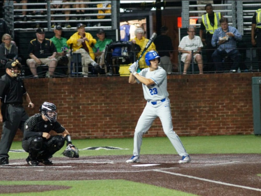 Kyle Gallgher's three-run home run in the third inning gave the Blue Devils an early 6-2 lead.