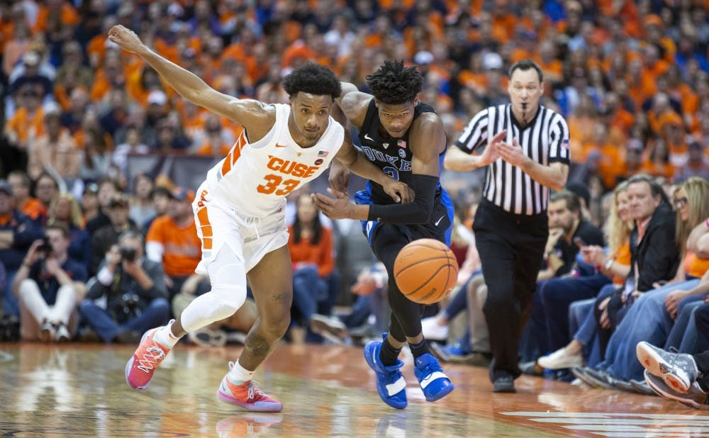 <p>Cam Reddish struggled offensively against Syracuse Saturday.</p>