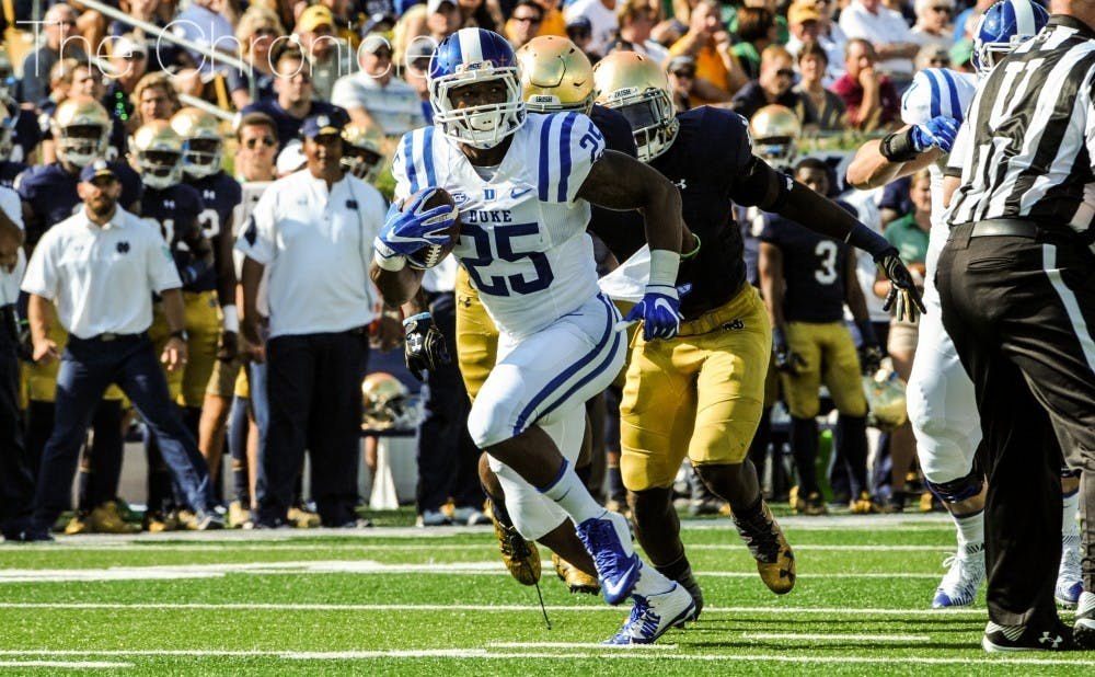 <p>Jela Duncan will miss Saturday's game against Virginia, meaning Duke's other running backs will have to step up to keep the Cavalier defense honest.&nbsp;</p>