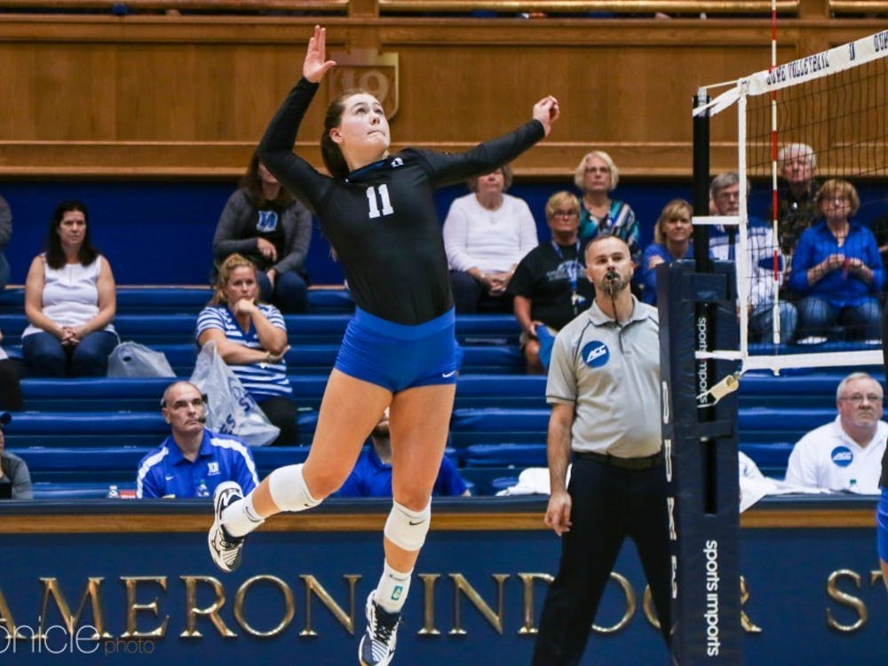 Payton Schwantz, Duke's 2018 leader in kills, will be key for the Blue Devils this season.