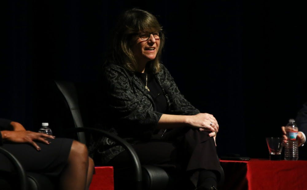 <p>One of Provost Sally Kornbluth's goals as Duke's chief academic officer is to increase the number of female faculty in STEM fields.</p>
