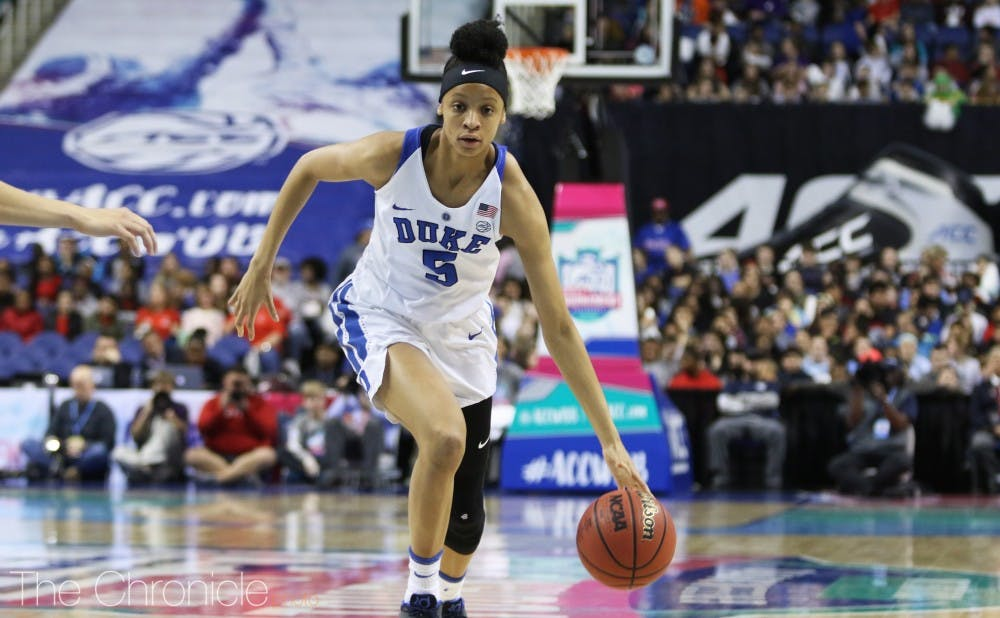 <p>Leaonna Odom led Duke in scoring in all three of its NCAA tournament games.</p>