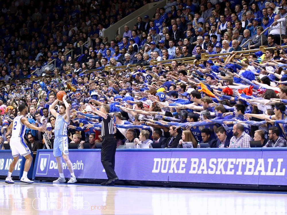 Duke had barred fans from home games during the 2020-21 year.