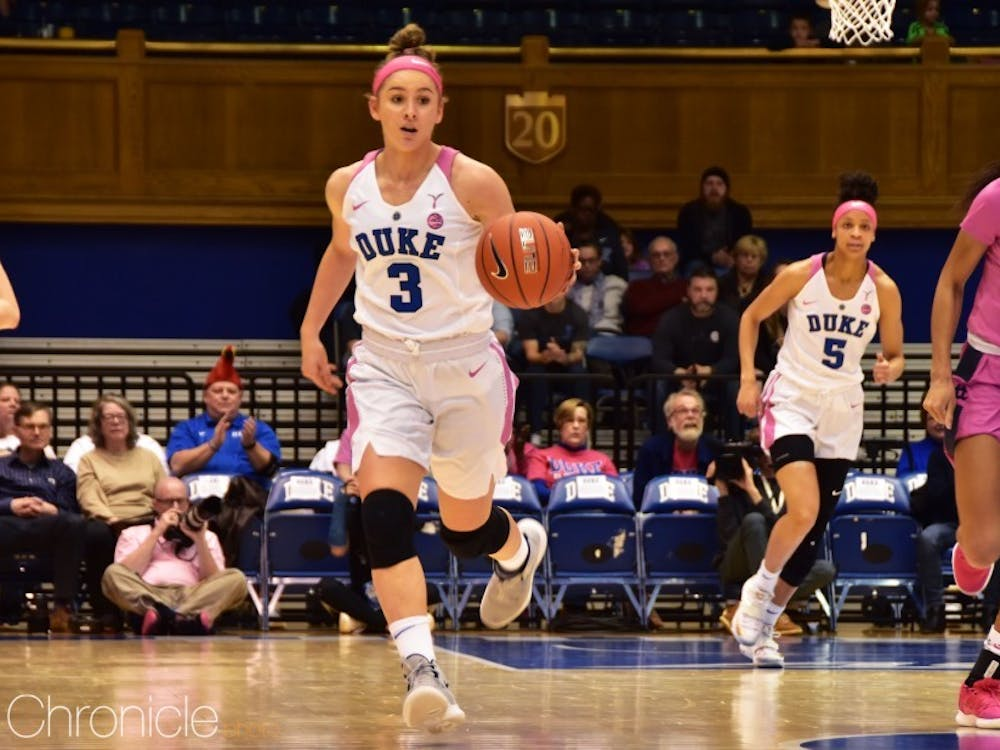 Goodchild set Duke's freshman record in 3-point field goals last season with 73