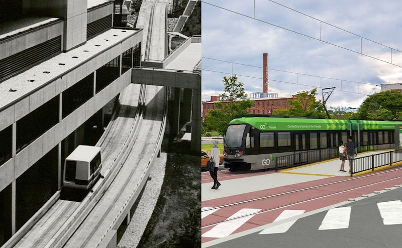 Photos courtesy of Duke University Archives and GoTriangle