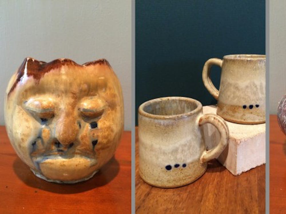 Salazar has made a wide variety of pottery pieces in his spare time.