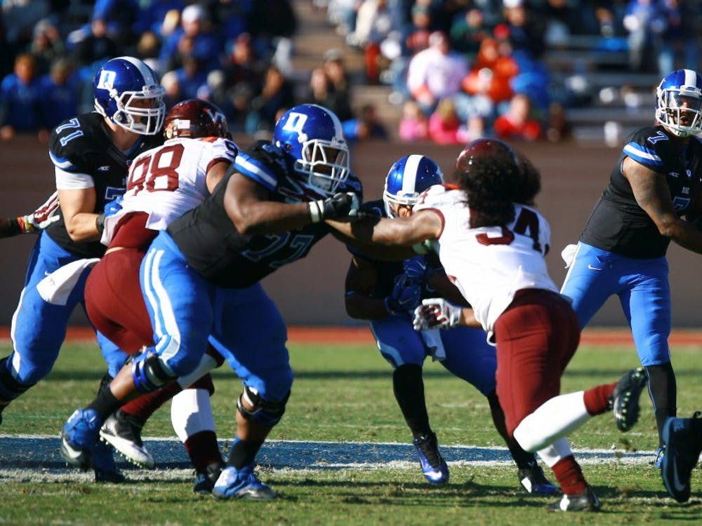 Redshirt senior Laken Tomlinson has started 51 consecutive games for Duke and is set to be a first-round draft pick in the 2015 NFL Draft.
