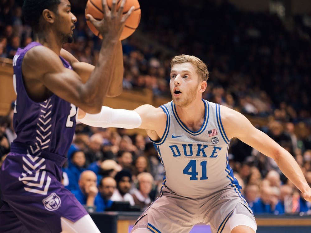 The Blue Devils forced 21 turnovers against the Bears Tuesday night.
