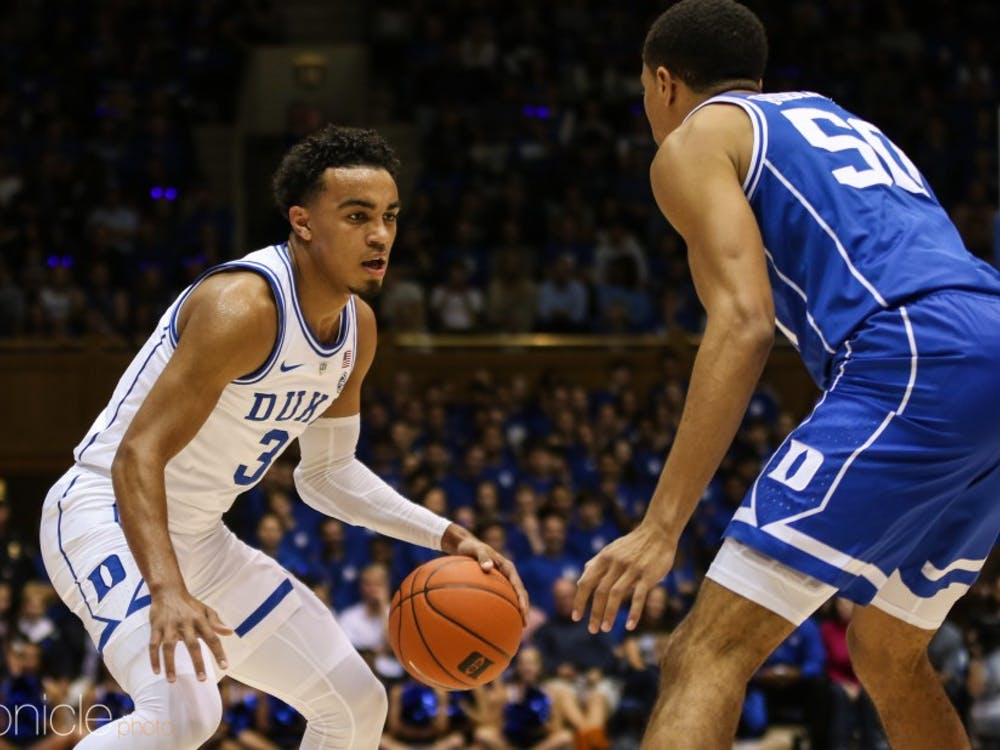 Tre Jones's playmaking should help Duke put away the Tigers early.