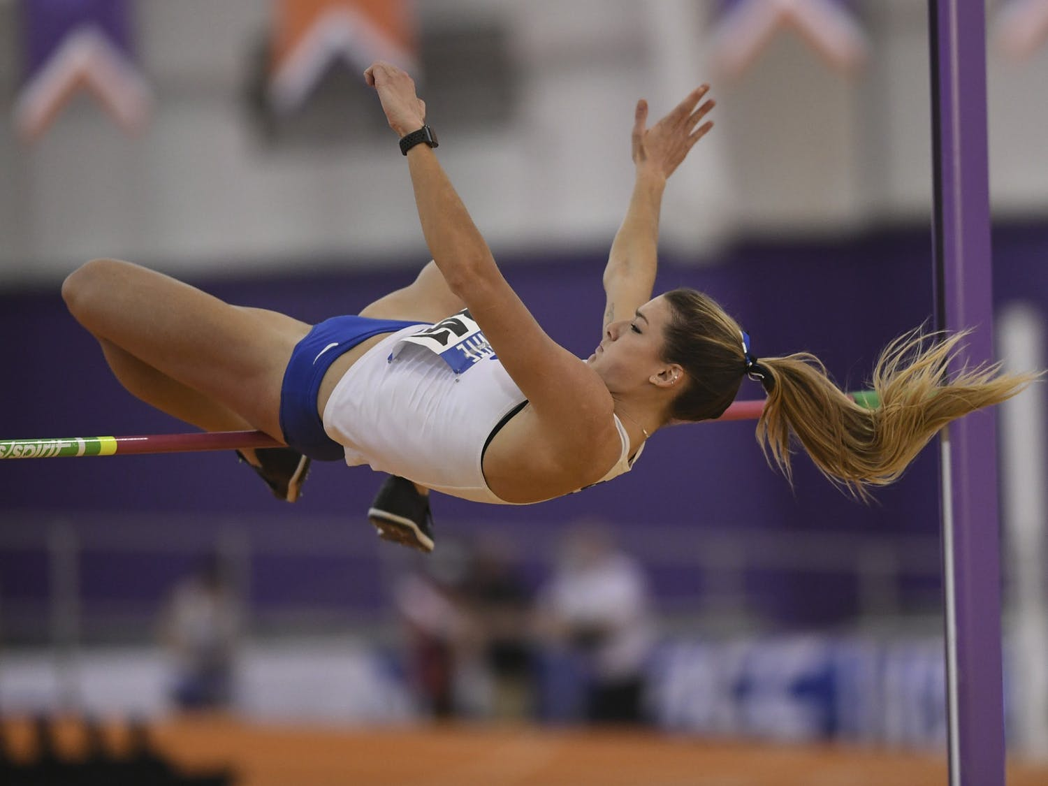 Erin Marsh excelled in the women's high jump and 60m hurdles, coming in second place in both.