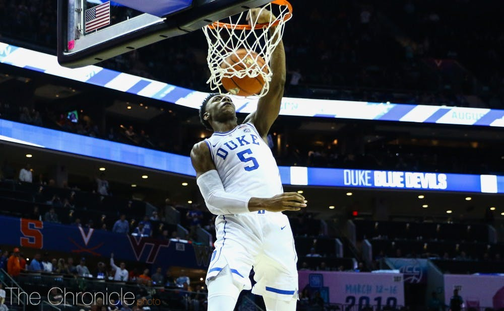 <p>R.J. Barrett shouldered the offensive load for Duke six days ago, but he'll have plenty of offensive help from classmate Zion Williamson this time around.</p>