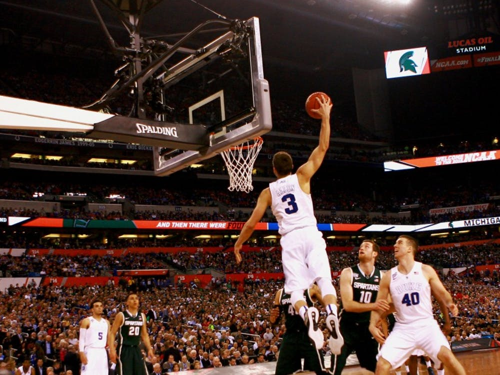 Freshman Grayson Allen electrified Blue Devil fans in the Final Four, throwing down a one-handed jam in the semifinals against Michigan State and dropping 16 points against Wisconsin in the title game.