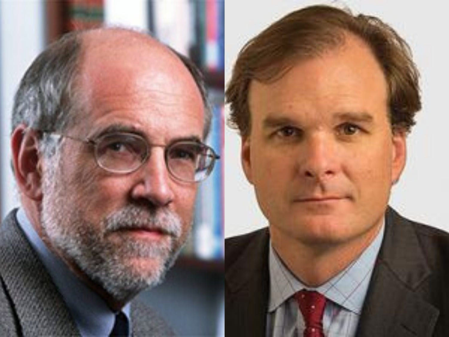 Professors Christopher Schroeder (left) and Robert Bonnie (right) are leading agency review teams as part of Joe Biden's transition team.