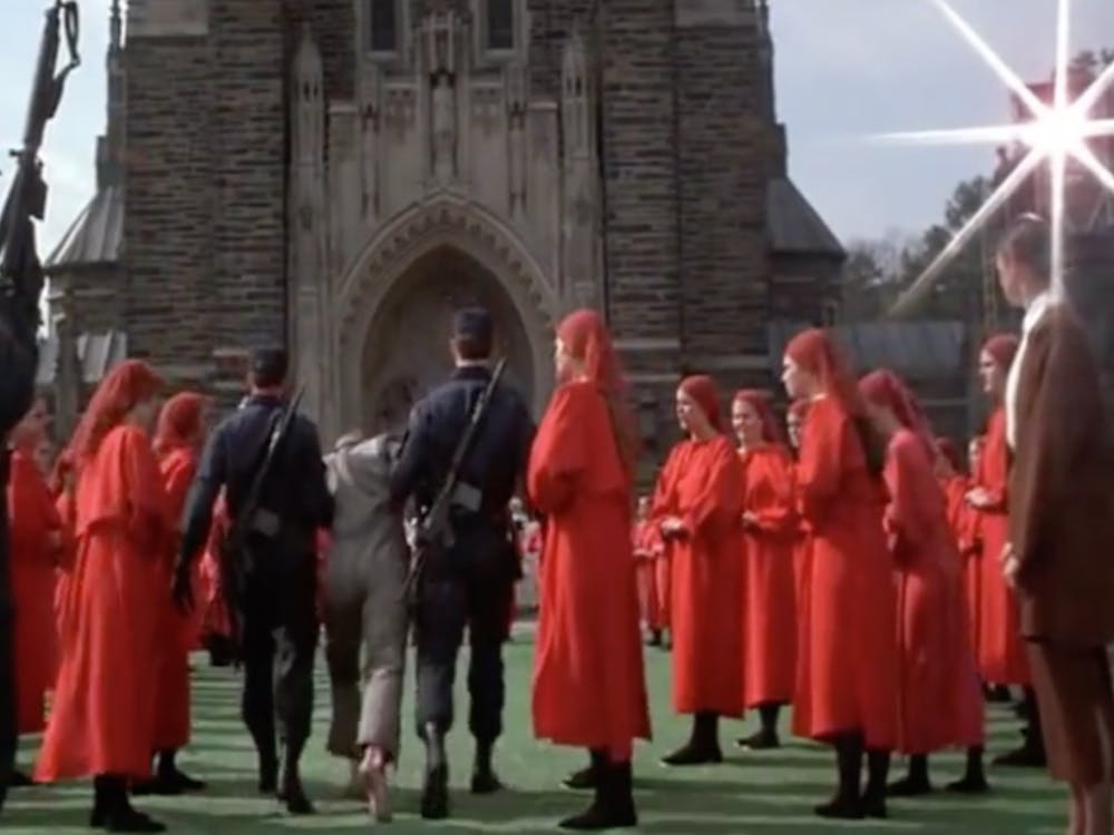 "The 1990 adaption of Margaret Atwood's novel ""The Handmaid's Tale"" is one of many movies to use Duke's campus as a filming location."